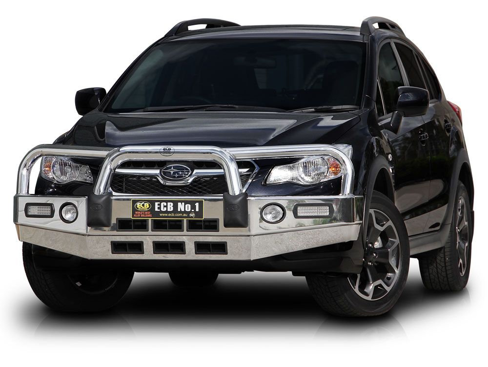 subaru xv bull bar bars bumper polished lights australian bullbars perth australianbullbars autopro